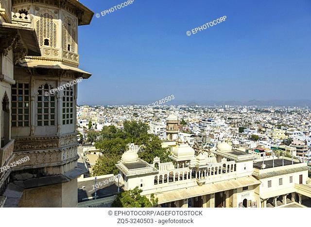 Udaipur city view from City Palace, Udaipur, Rajasthan