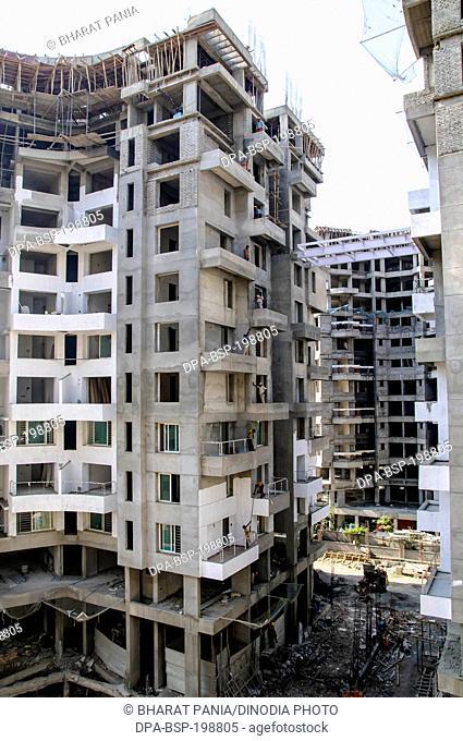 Building construction site, pune, maharashtra, india, asia