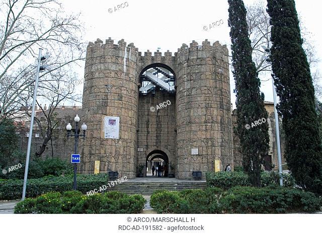 Poble Espanyol de Montjuic, Barcelona, Catalonia, Spain, Spanish village
