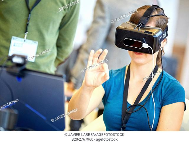 Glasses of virtual reality, VR, Rehabilitation applications, Health, Research & Innovation, Donostia, San Sebastian, Gipuzkoa, Basque Country, Spain, Europe