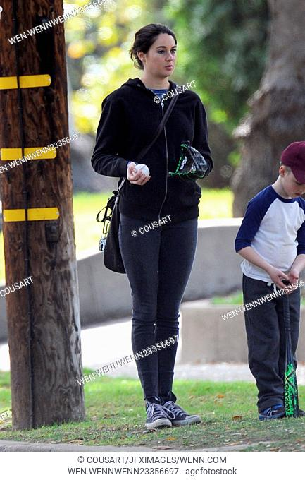 "Actress Shailene Woodley and co star Reese Witherspoon spotted on the set of """"Big Little Lies"""" filming in Pasadena Ca. Shailene and Reese will be starring for..."