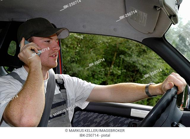 Cardriver with telephone - Germany, Europe