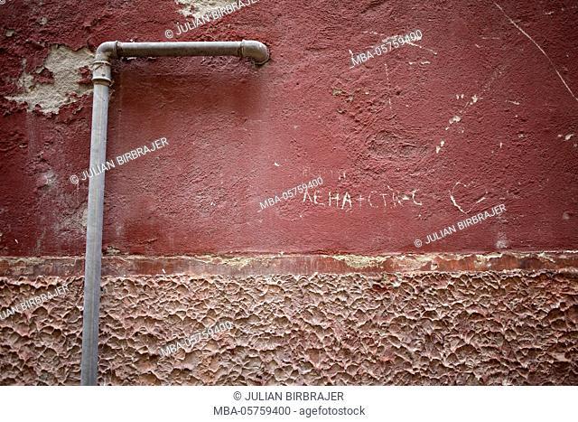 Europe, Veneto, Venetia, Venice, wall, pipe