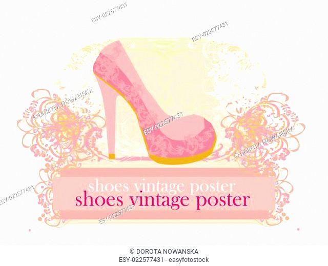 abstract shoes vintage poster