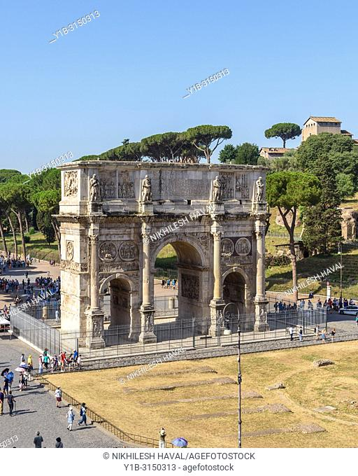 Arch of Constantine viewd from Colosseum, Rome, Italy