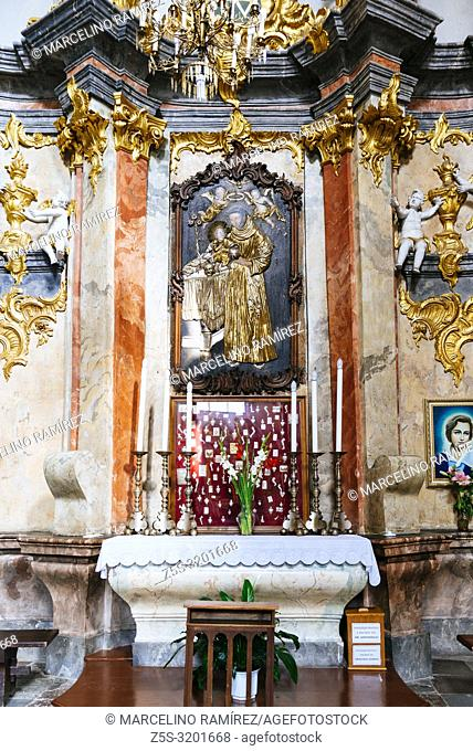 chapel with votive offerings, Dominican Church of the Holy Spirit, a monument of high and late Baroque. Vilnius, Vilnius County, Lithuania, Baltic states