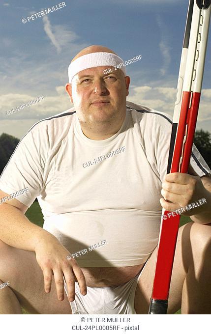 Large tennis player