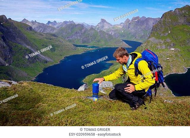 Lofoten mountaineering