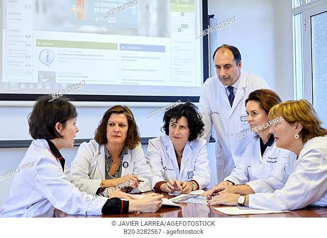 Hospital management meeting, Clinical session, Hospital Donostia, San Sebastian, Gipuzkoa, Basque Country, Spain