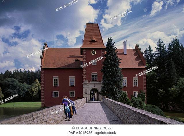 Bridge and entrance to Cervena Lhota Castle, 1530, South Bohemia, Czech Republic, 16th century