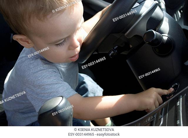 Child at the wheel