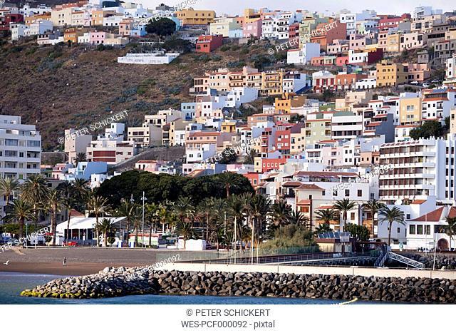 Spain Canary Islands, La Gomera, San Sebastian de La Gomera, townscape