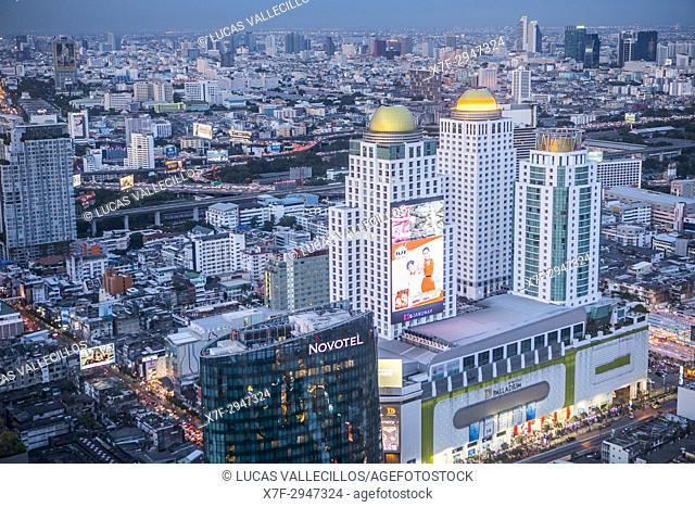 Bangkok, night, Skyline, Downtown, Thailand