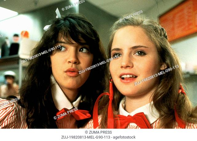 Aug 13, 1982; Los Angeles, CA, USA; PHOEBE CATES and JENNIFER JASON LEIGH star as Linda Barrett and Stacy Hamilton in the comedy 'Fast Times at Ridgemont High'...