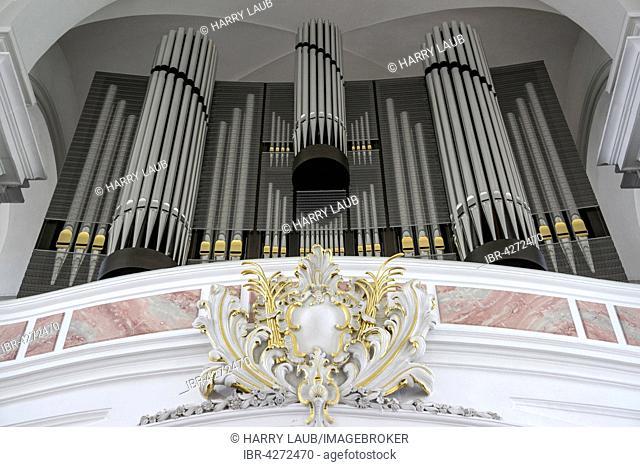 Organ, Jesuit Church, Heidelberg, Baden-Württemberg, Germany