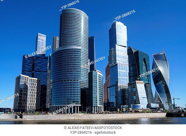 Skyscrapers of Moscow City business center. Russia