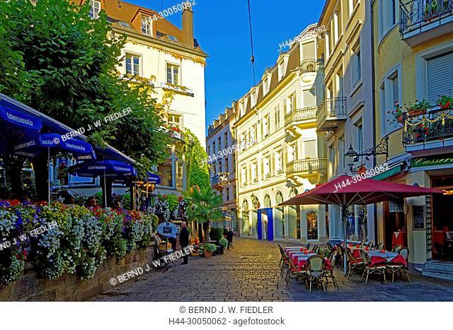pedestrian zone, Baden-Baden Germany