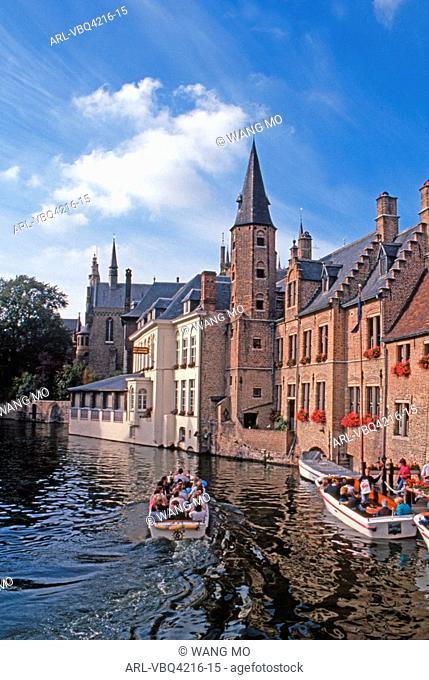 Belgium,Brugge, canal