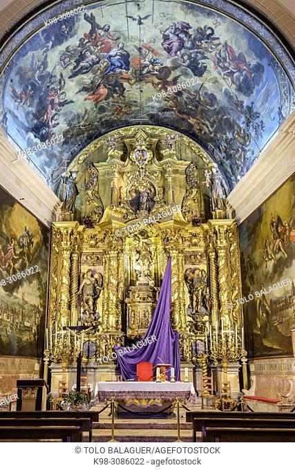 retablo mayor, Iglesia de San Miguel, siglo XIV-siglo XVII, Palma, Mallorca, balearic islands, Spain
