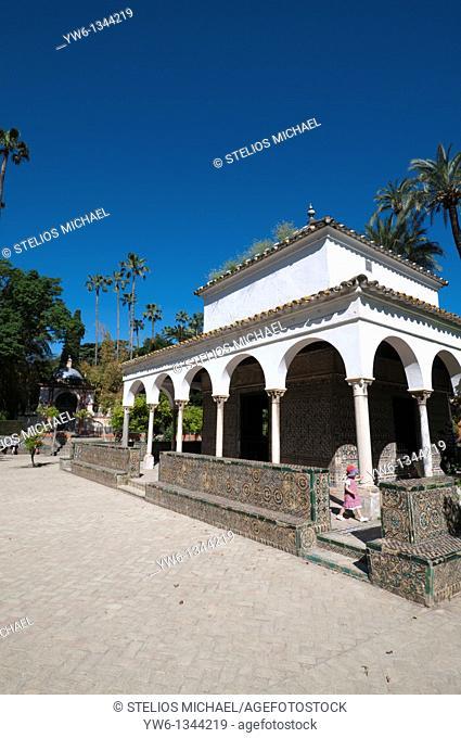 Gardens at Real Alcazar in Seville,Spain