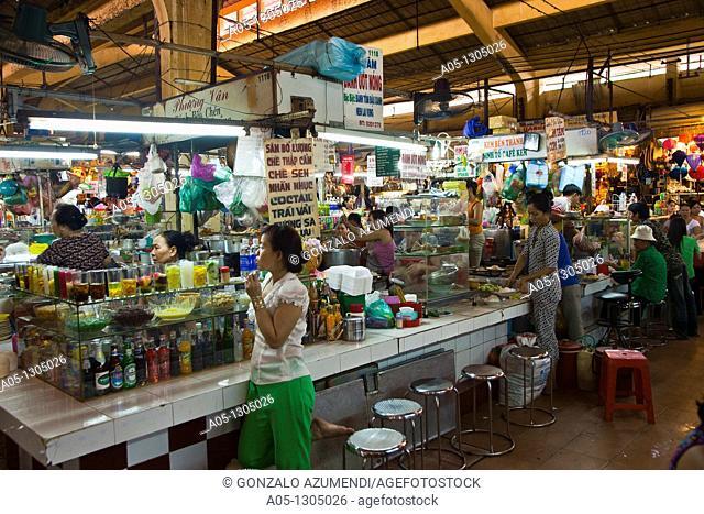 Ben Thanh Market. Ho Chi Minh City (formerly Saigon). South Vietnam