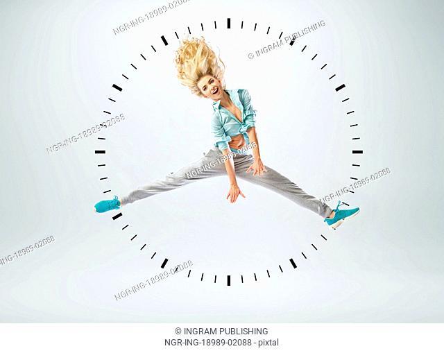 Conceptual photo of human clock