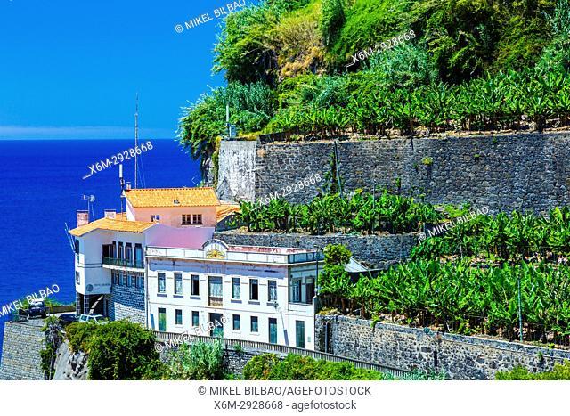 Building. Ponta do Sol village. Madeira, Portugal, Europe