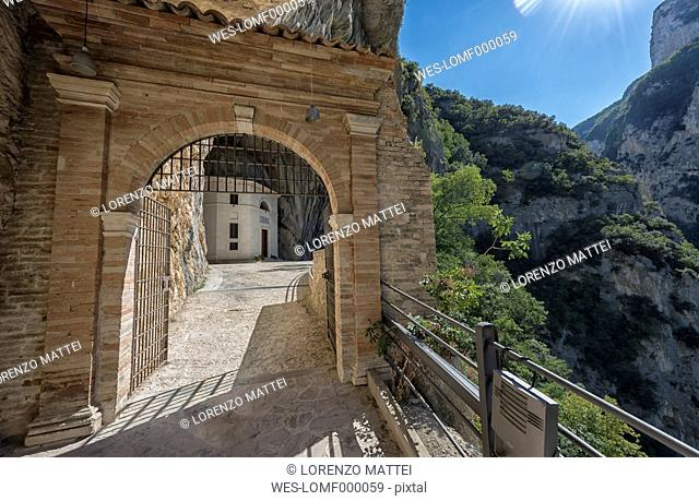 Italy, Marche district, Gola della Rossa, The Valadier church