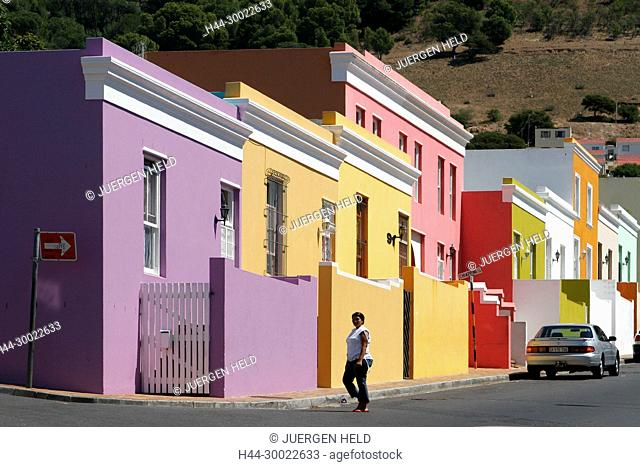 cape town, Bo Kaap, colorful facades in area of cape muslims