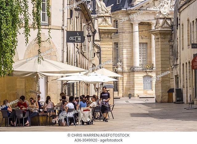 Cafe scene at Place de la Liberation Dijon Cote-d'Or Bourgogne-Franche-Comte France
