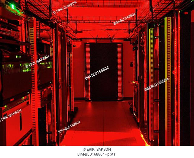Technology in server room