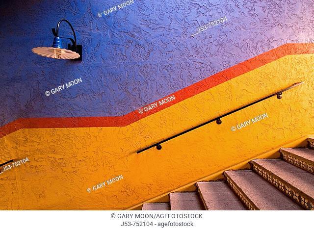 Stairway, La Placita Village shops and office complex,Tucson, Arizona, USA