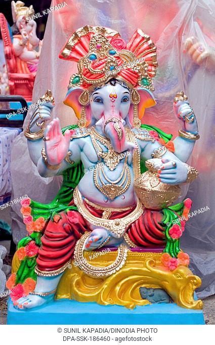 idol of Lord Ganesh in Pune at Maharashtra India Asia