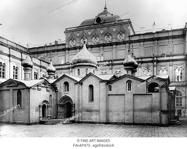 The Cathedral of the Saviour in the Wood in the Moscow Kremlin. Scherer, Nabholz & Co.  . Albumin Photo. 1882. Russian State Film and Photo Archive, Krasnogorsk