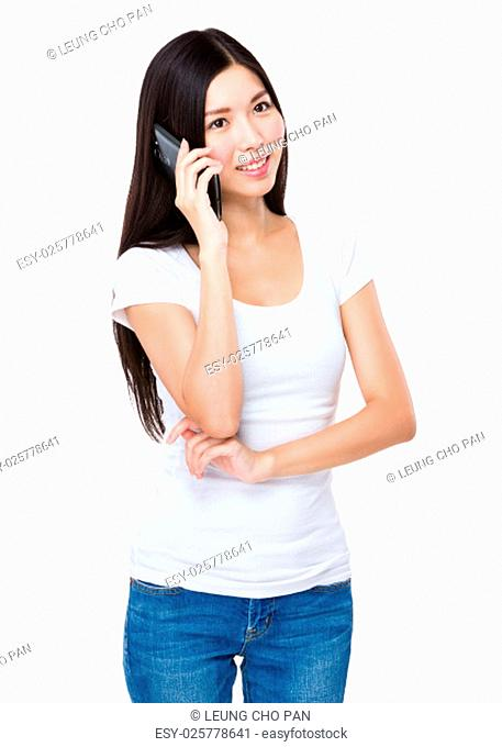 Woman chat on the mobile phone