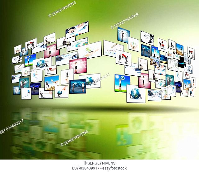 Media stream of high technology and modern television