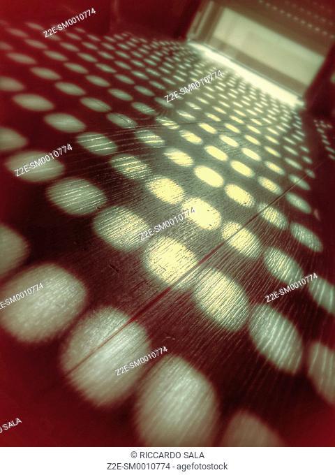 Shadow Window Light on Palquet Floor