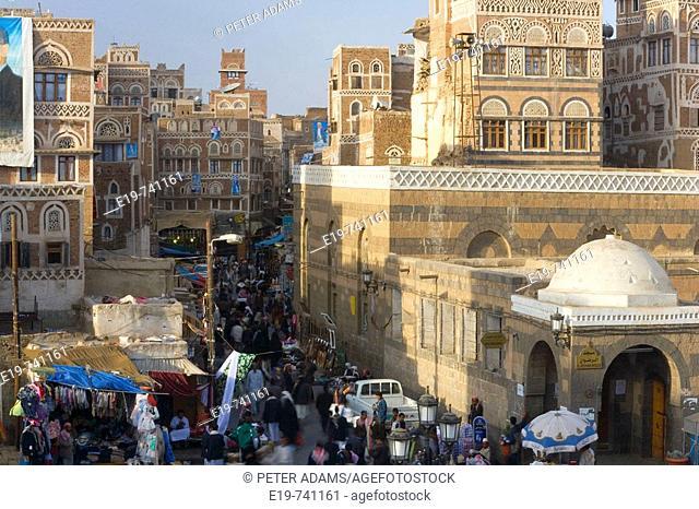 View of Bazaar, San'a, Yemen
