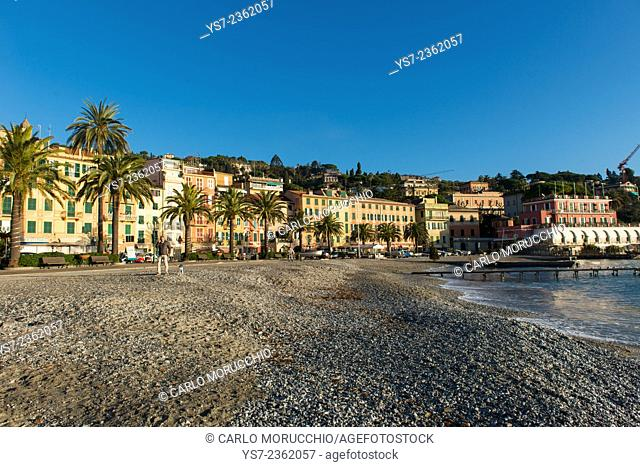 Santa Margherita Ligure beach, Genova, Liguria, Italy, Europe