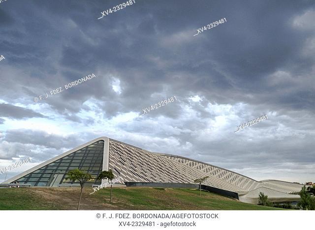 Bridge Pavilion designed by Zaha Hadid. Saragossa, Aragón, Spain Europe