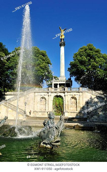 Friedensengel, Angel of Peace Monument, Munich, München, Bavaria, Germany, Europe