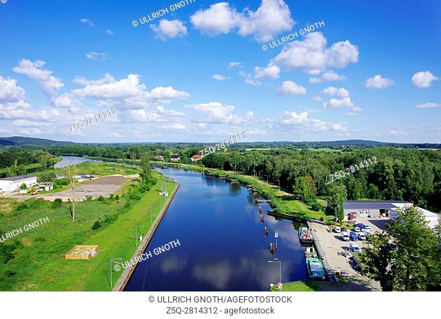The Oder-Havel Canal as seen as from the Niederfinow Boat Lift, Brandenburg, Germany