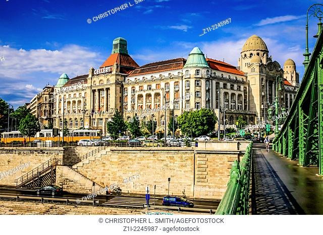 Gellert Astoria Hotel on the banks of the River Danube in Budapest