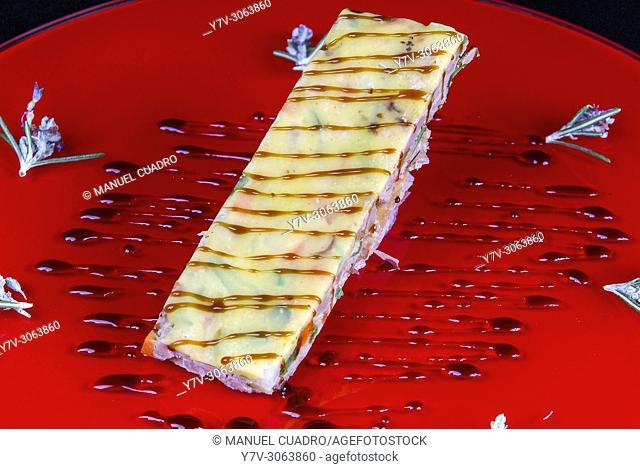 Plato de Mi-cuja de verduras (vegetables). Restaurante Chef Nino, Calahorra, La Rioja Spain