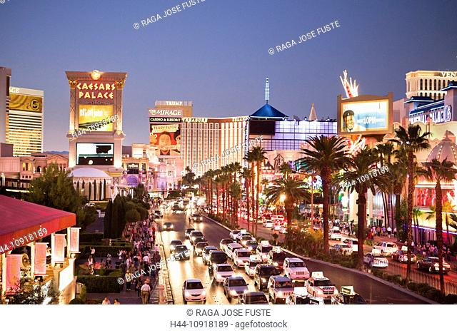 USA, United States, America, Nevada, Las Vegas, City, Strip, Avenue, advertisement, architecture, casinos, center, colourful, famous, modern, neon signs, new
