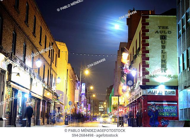 Temple Bar at night, Dublin, Ireland