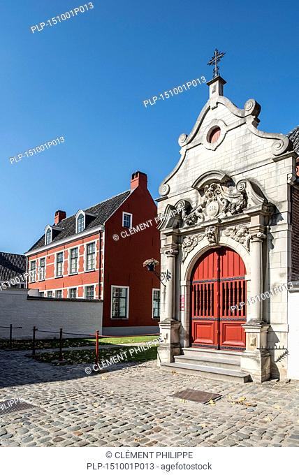 The small beguinage O.L.V. Ter Hooyen / Our Lady of Hooie / Our-Lady Ter Hooyen in Ghent, Belgium
