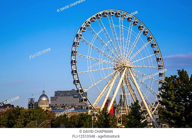 The Montreal Observation Wheel in the Old Port of Montreal; Montreal, Quebec, Canada