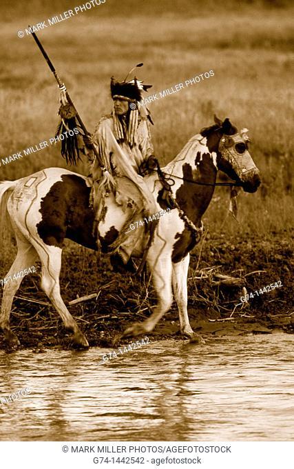 Native American Riding on Horseback Re-enactment Model Released