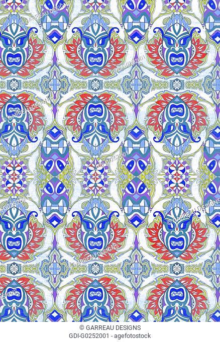 Repeating tribal design